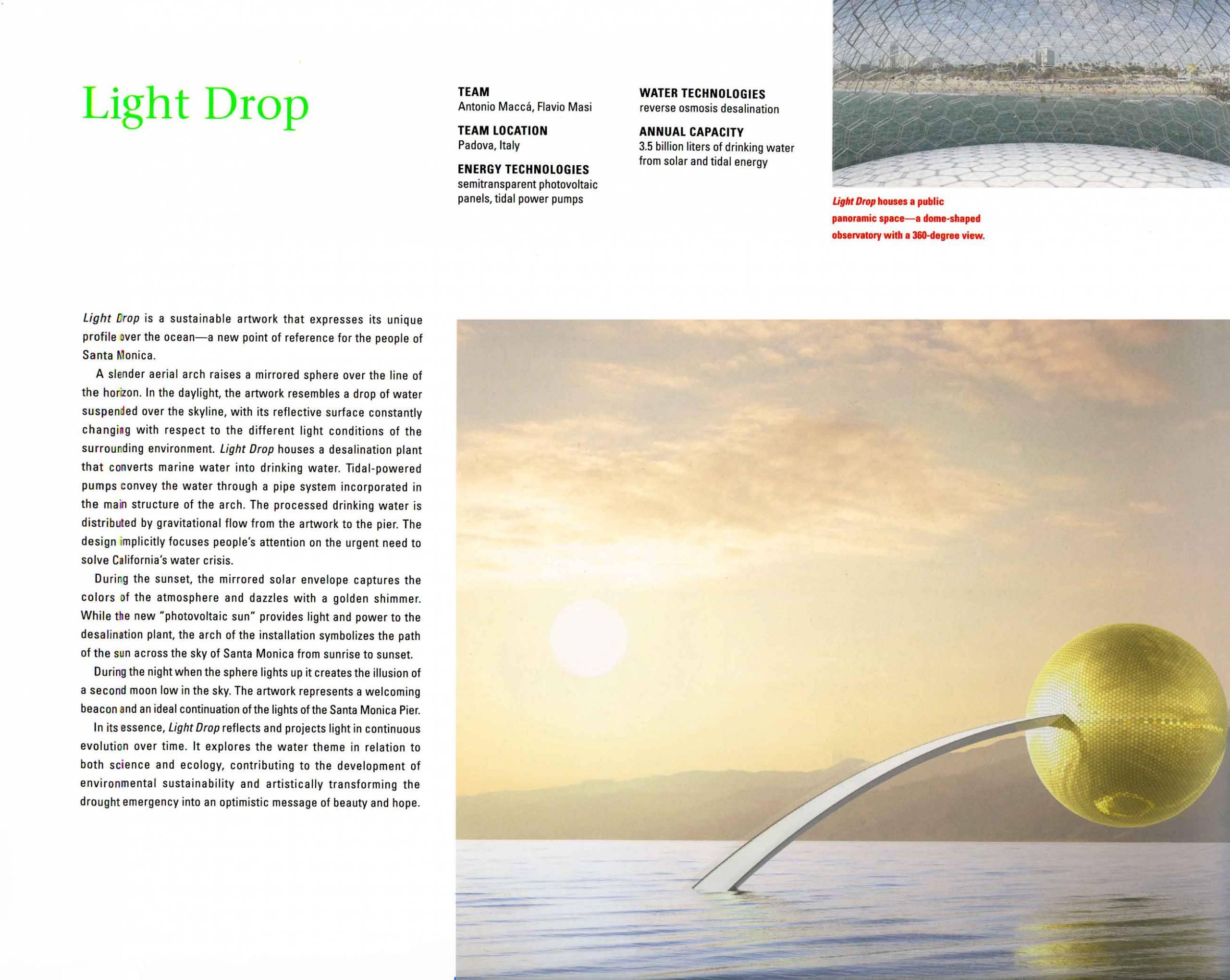 Light drop, Antonio Maccà